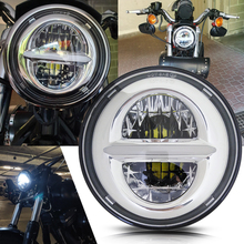 5 3/4inch Iron 883 Dyna Headlamp 5.75 LED Headlight DRL for Triumph Rocket iii 3 Speed Tripl & Street Triple 5.75 Lamp for harley 5 3 4 motorcycle projector daymaker led lamp headlight 5 3 4 for harley sportster iron 883 dyna street bob fxdb