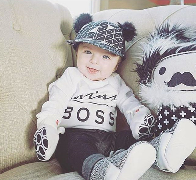 Baby Romper Newborn Kids Infant  Baby Boy Girl Clothes Cotton Short Sleeve Mini Boss Printed Jumpsuit Outfit 3-18 Months 4