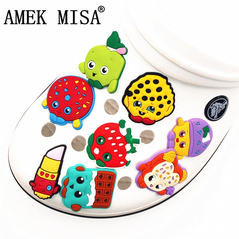 Single Sale 1Pcs Shoe Charms Accessories Cartoon Colorful Doll Shoe Decoration For Wristband Croc Jibz Kid's Party X-mas Gifts