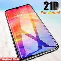 21D Piena Copertura In Vetro Temperato Per Xiaomi Mi 9 9t se Pro Protezione Dello Schermo Per Xiaomi Mi A3 8 a2 A1 Lite Della Miscela 3 di Vetro Di Protezione