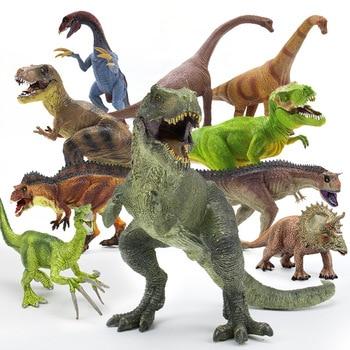 Brachiosaurus Plesiosaur Tyrannosaurus Dragon Dinosaur Collection Model Animal Collection Model Toys Action&Toy Figures transformers toys the last knight premier edition steelbane deluxe dinobot slug autobot sqweeks action figures collection model