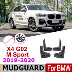 Mudguards For BMW X4 G02 F98 M Sport 2020-2019 Over Fender Mud Flaps splash Guards Car Splash Accessories