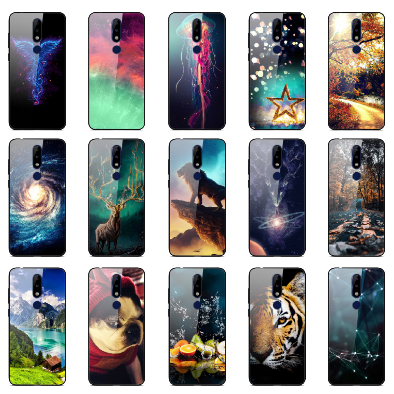 For <font><b>Nokia</b></font> X5 Cover tempered glass <font><b>phone</b></font> <font><b>Case</b></font> for <font><b>Nokia</b></font> <font><b>5.1</b></font> Plus <font><b>Case</b></font> NokiaX5 <font><b>phone</b></font> shell Coque etui bumper 360 full protective image