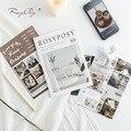 Набор стикеров для блокнота Rosy Posy на 20 страниц, винтажные стикеры в стиле INS с мультяшным медведем, декоративные Стикеры, дневник, журнал, аль...