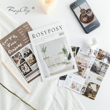 Rosy Posy – autocollants Vintage ours en dessin animé, 20 pages, décoration pour carnet de notes, Style INS, pour Journal intime, Album, cadeau, A6786