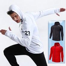 Куртки для мужчин Спортивная футболка тренажерного зала и бега