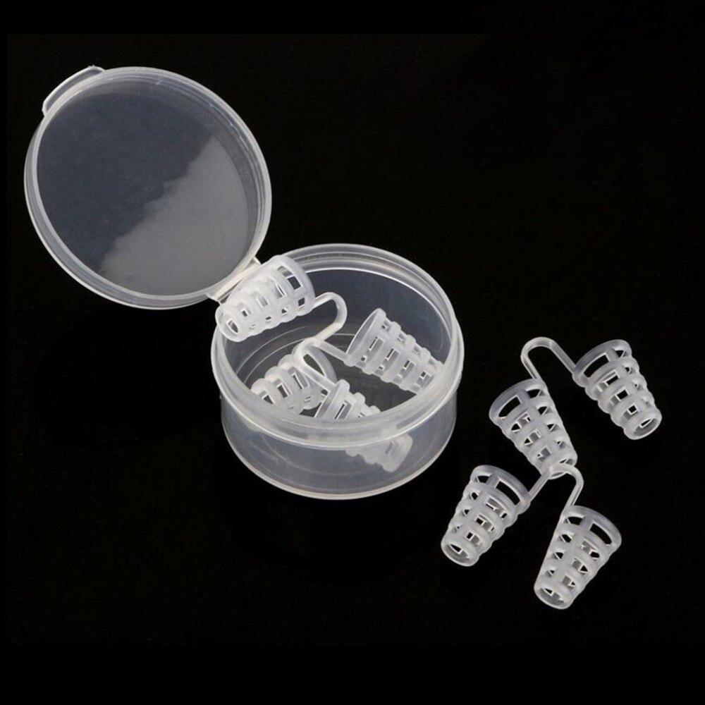 4pcs Stop Snoring Sleeping Aid Equipment Mini Transparent Anti-Snoring Device Health Toiletry Kits New Arrival