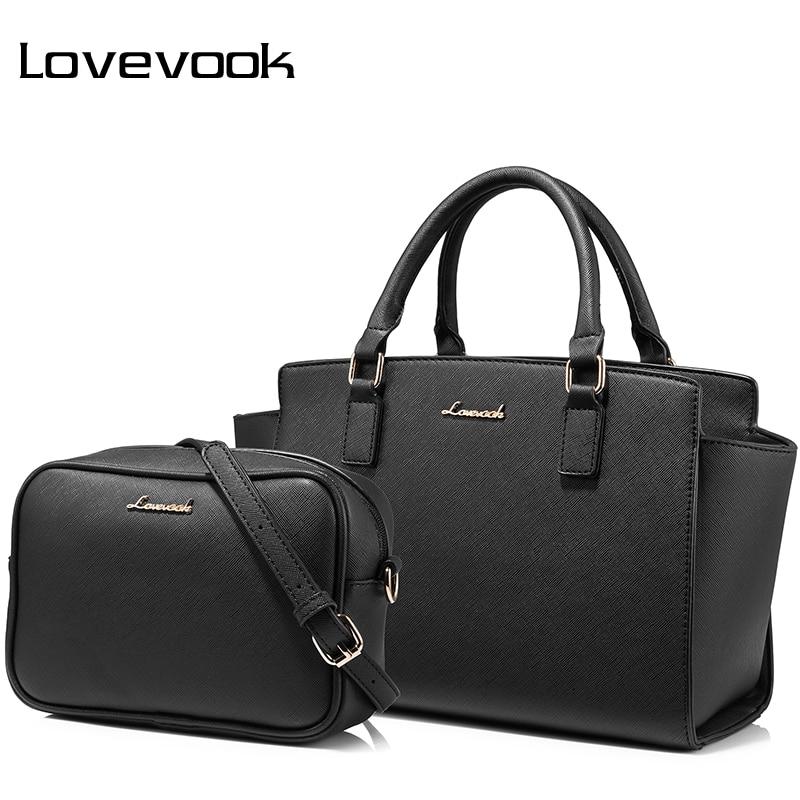 LOVEVOOK Women Bag Leather Set Ladies Top Handle Bags High Quality PU Shoulder Crossbody Bag Female Purse And Handbags