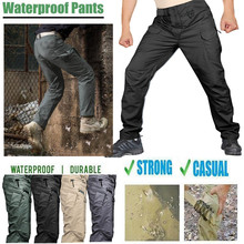 Scratch-proof Waterproof Pants Hiking Pants Men Sports Trekking Camping Cargo Waterproof Trousers Military Tactical Pants
