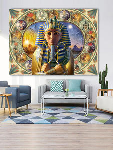 Sticker Diamond-Painting Egypt Pharaoh Embroidery Decor Mosaic Round Full-Square Ancient