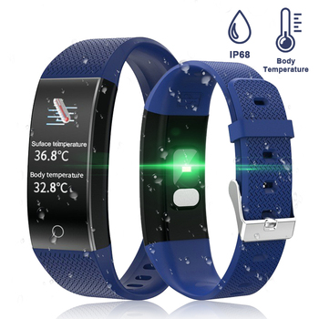 Body Temperature Detection Smart Bracelet Immunity Measure Blood Pressure Heart Rate Fitness Bracelet IP68 Waterproof Russian 2
