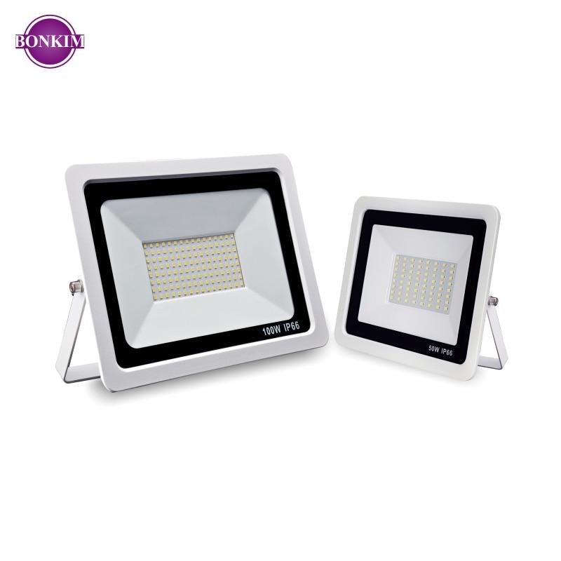 2X 100W LED Flood Light Warm White Super Bright Garden Workshop Outdoor Lighting
