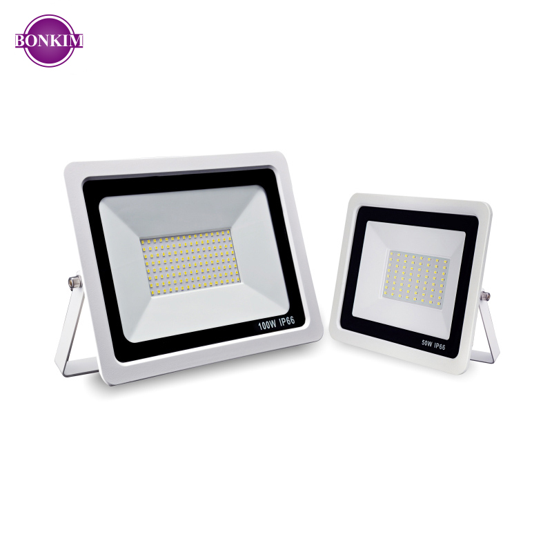 LED Floodlight AC220V 10W 20W 30W 50W 100W Warm White Cold White Outdoor Waterproof IP66 Focus Spotlight Courtyard Door Lighting