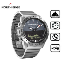 NORTHEDGE Quartz Watches Dive Men Waterproof 100M Stainless Steel Clock relogio masculino Mens Electronic Watch Sports Watches