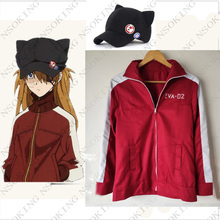 Anime EVA Asuka Langley Soryu Cosplay Costume Hoodie jacket coat  Tailor  Made