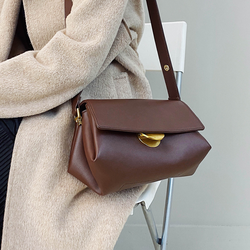 Lady Solid Color PU Leather Crossbody Bags For Women 2020 Fashion Simple Shoulder Messenger Bag Female Handbags