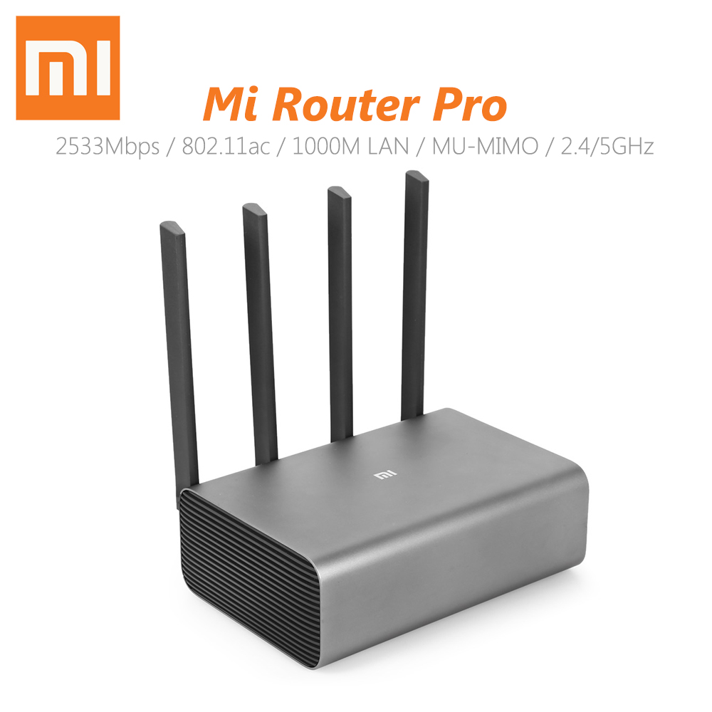 Original Xiaomi Router Pro 2533Mbps Smart Wireless Router WiFi Network Device 4 Antenna Dual band 2