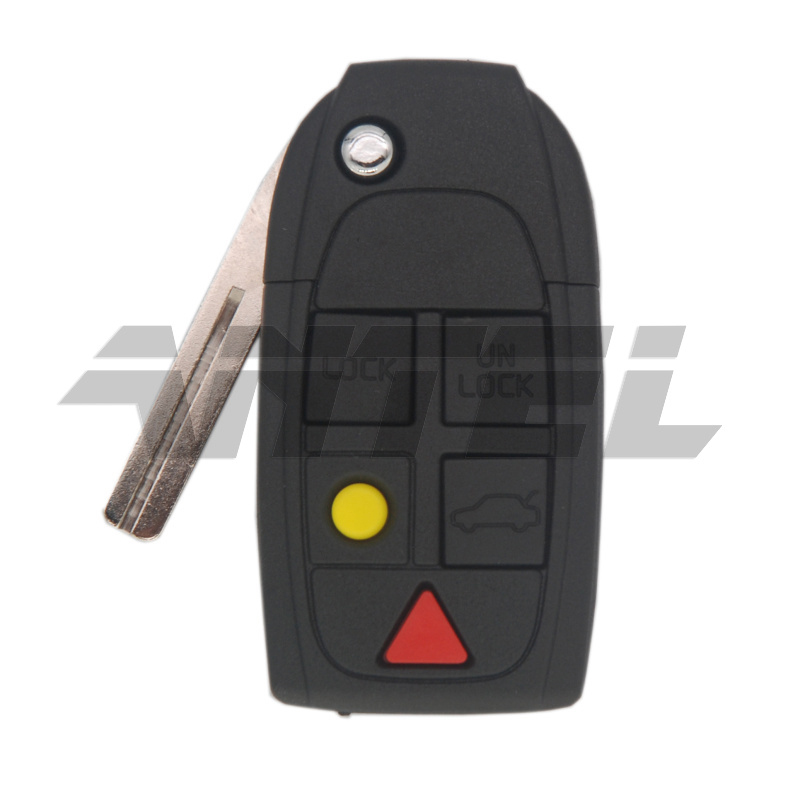 Antel New Replacement 5 Buttons Remote Flip Folding Key Shell For VOLVO S80 XC90 CAR KEY SHELL