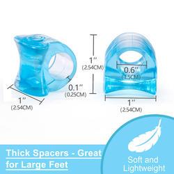 2pcs Blue Soft Silicone Gel Toe Separator Hallux Valgus Bunion Spacers Thumb Corrector Foot Care Tool
