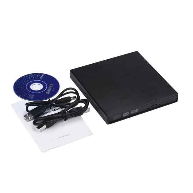 Wysokiej jakości przenośny USB 2.0 IDE Laptop Notebook CD DVD RW palnik napęd rom obudowa zewnętrzna obudowa czarna okładka