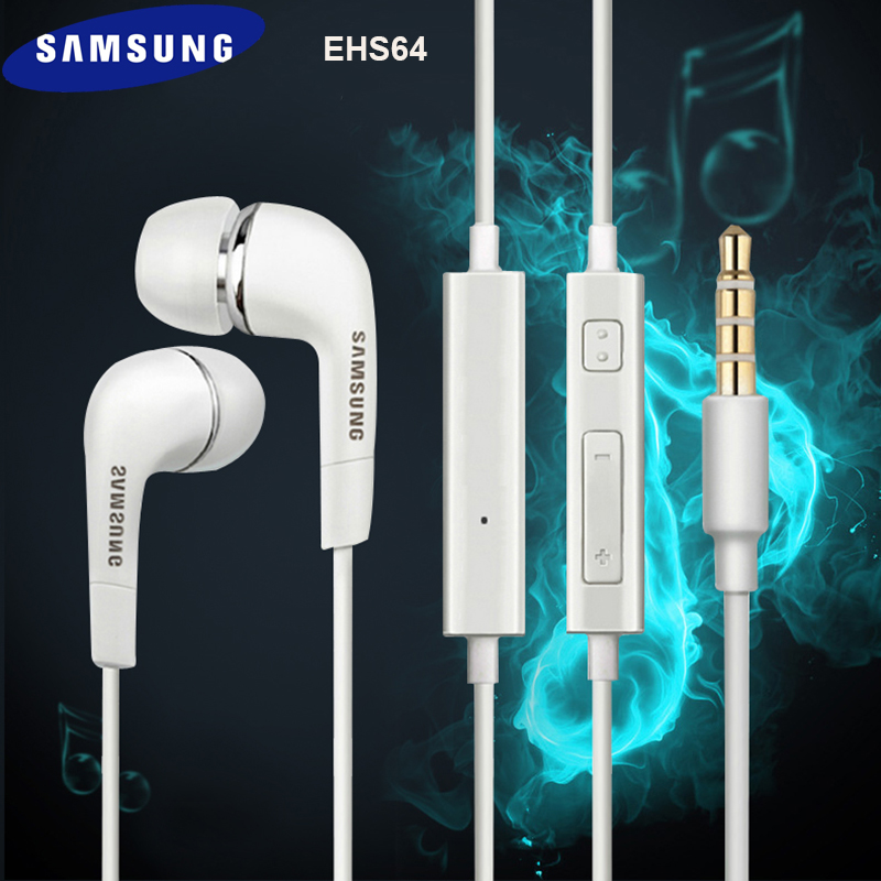 <font><b>EHS64</b></font> Original Samsung Earphones Headsets With Built-in Microphone 3.5mm In-Ear Wired Earphone For Smartphones For Galaxy S10 S9 image