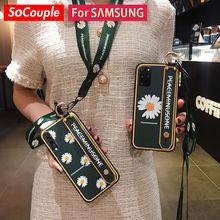 SoCouple – coque de téléphone avec dragonne pour Samsung, compatible modèles S21, S20, FE, S10, Note 10 plus, A51, 71, 50, 52, 72, 70, 20, 30, 21 s