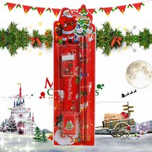 Christmas Stationery Set Pencil Eraser Ruler Cutting pen Combination Primary School Holiday Gift School Supplies Wood 924(China)