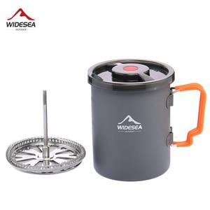 Image 1 - Widesea קמפינג קפה סיר עם צרפתית עיתונות חיצוני כוס ספל כלי בישול לטיולים טרקים