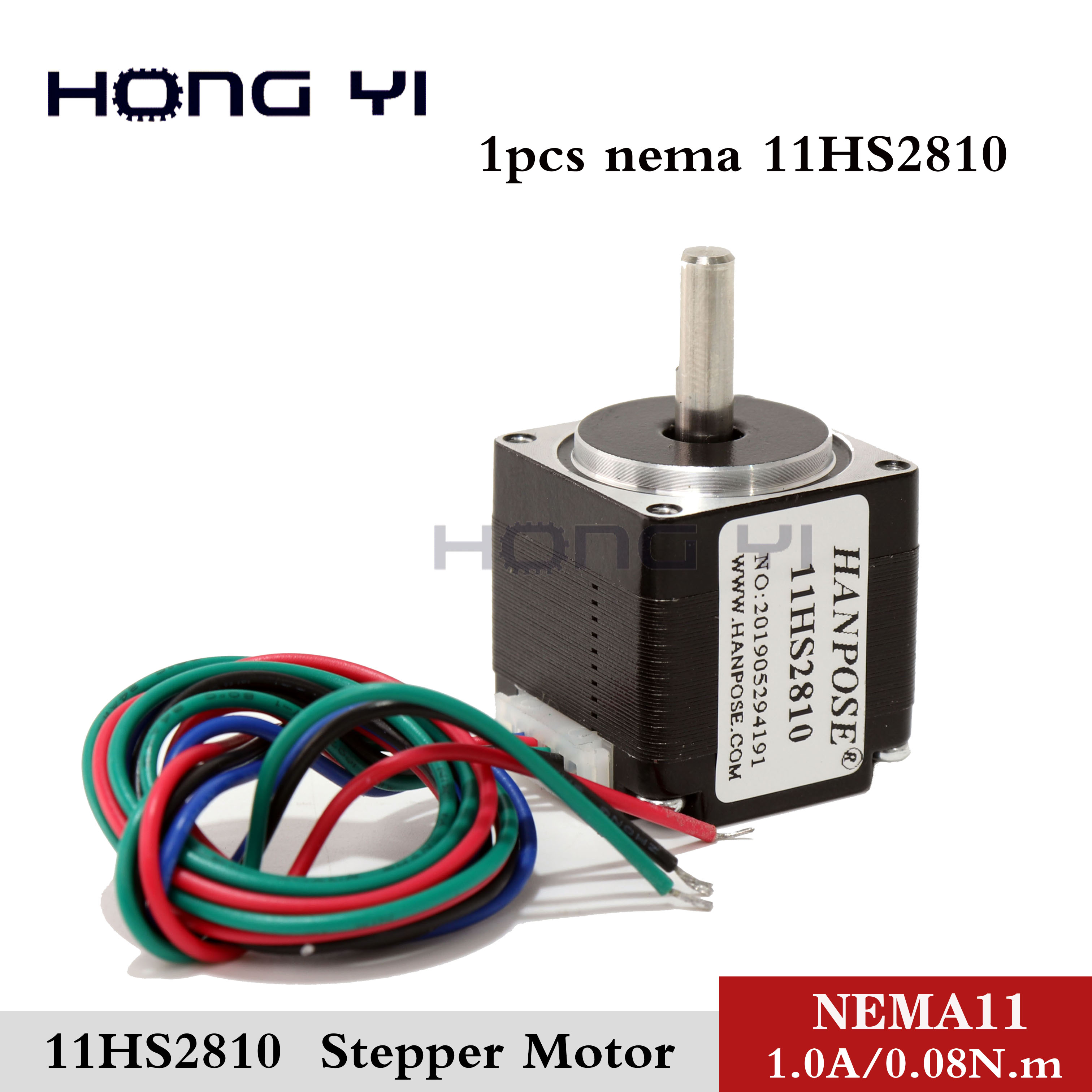 1PCS New 15mm 2 Phase 4 Wire Stepper Motor With A Long Ballscrew