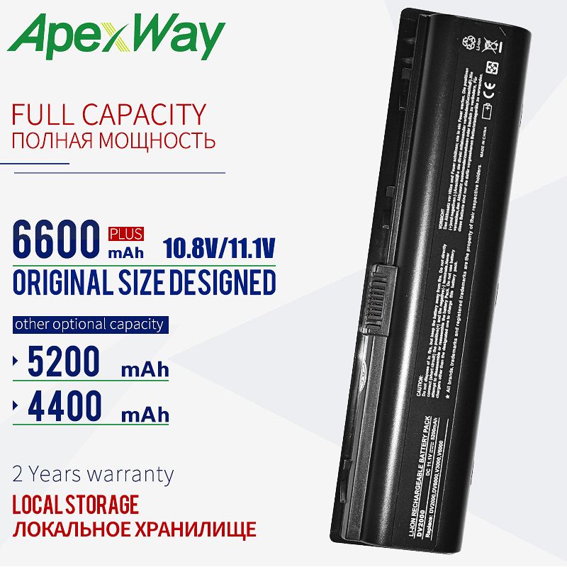 ApexWay 11.1v Battery For HP For COMPAQ 440772-001 441425-001 441611-001 455804-001 460143-001 HSTNN-Q21C HSTNN-C17C HSTNN-DB31
