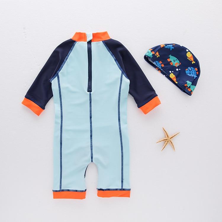 Boys' Cotton One-piece Swimsuit Puffer-Swimwear Children Hot Springs Tour Bathing Suit