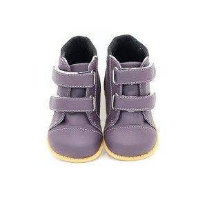 Image 5 - Tipsietoesブランド高品質の革のステッチキッズ子供ソフトブーツ学校の靴男の子2020秋冬雪のファッション