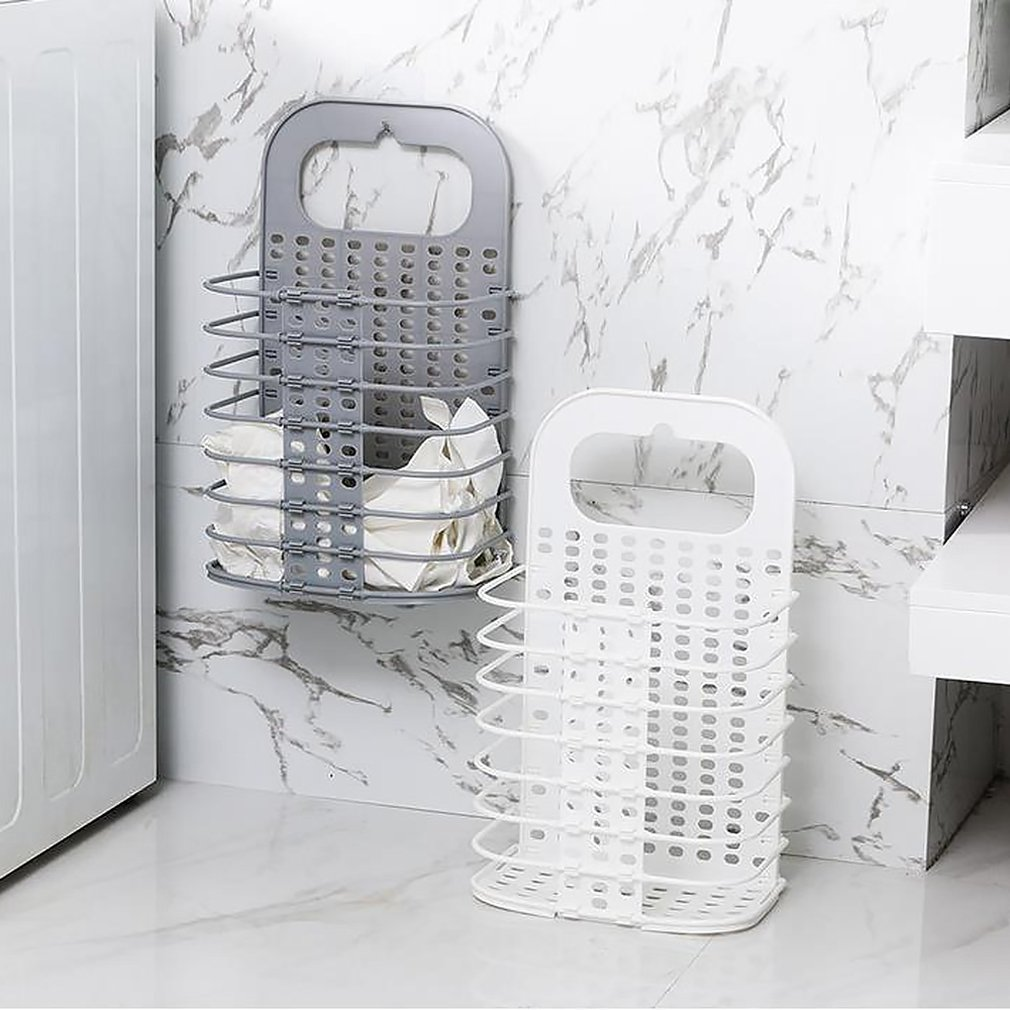 Dirty Clothes Storage Baskets Household Folding Baskets Wall Hanging Clothes Basket Portable Hamper
