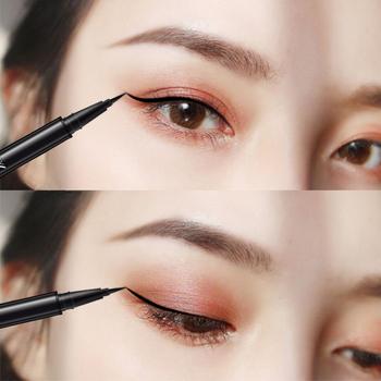 Wodoodporny czarny eyeliner w płynie ołówek duży makijaż oczu długotrwały eyeliner Pen makijaż gładkie szybkoschnące kocie oko narzędzie kosmetyczne tanie i dobre opinie Długotrwała Łatwe do noszenia Chiny GZZZ YGZWBZ 20170036