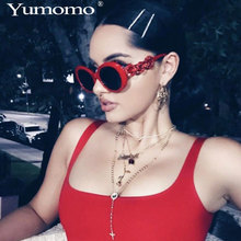 2019 goggle Glasses Diamond oval sunglasses ladies trendy hot Vintage retro Womens white black eyewear UV400