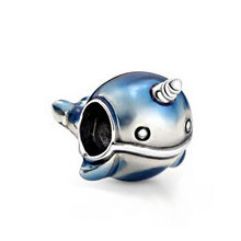 2020 lato nowy 925 Sterling Silver Shimmering Narwhale Charms wisiorek fit oryginalny Pandora bransoletki kobiety DIY biżuteria(China)