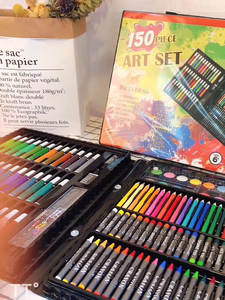 Stationery-Set Crayon Oil-Pastel Drawing-Set Painting Art-Supplies Water-Color-Pen Kids