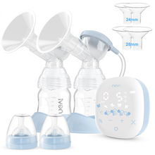 NCVI Electric Double Breast Pumps,Nursing Hospital Grade Breastfeeding Pump Strong Suction Power with Two Sizes Flange Choose