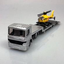 SIKU трактор с прицепом, пожарная машина со скоростной лодкой, грузовик с вертолетом, кран 16 см литой металлический автомобиль модель игрушки для детей