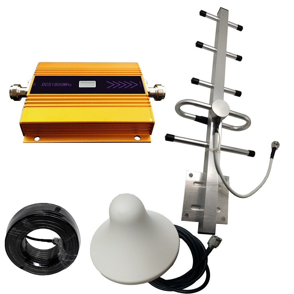 DCS 1800MHZ GSM 1800 2g 4g LTE Cell Phone Signal Repeater Booster Mobile Phone Signal Amplifier + Indoor Outdoor Antenna