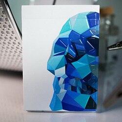 Memento Mori Categoria Azul Jogando Cartas Mágicas Adereços Magia do Poker Jogando Cartas Baralho Cartas de Poker para o Profissional