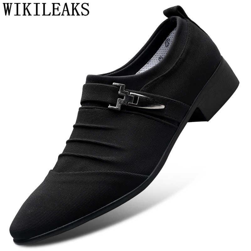 2019 Luxury ยี่ห้อ Classic Man Pointed Toe Men รองเท้างานแต่งงานอย่างเป็นทางการรองเท้า Oxford รองเท้าสำหรับผู้ชาย Zapatos De hombr