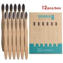 Y-kelin – brosse à dents en bois de bambou, nouveau, 12 pièces, naturel, écologique, biodégradable, soins buccaux, santé