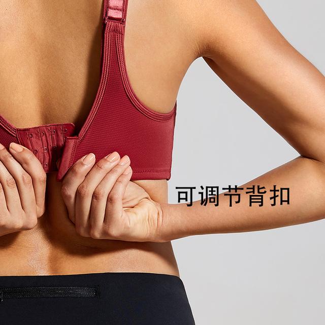 Women's Max Control Solid Plus Size Sports Bra