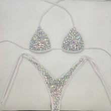 2020 venus vacation rhinestone bikini set diamond swimwear s