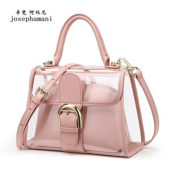 composite bag women shoulder bag  josephamani brand messenger bag New handbag fashion Jelly pack bolsa feminina Transparent bag