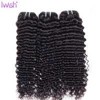 Extensiones de cabello humano malayo ondulado, extensión de cabello humano no remy de Color Natural, grueso, 3/4 mechones, ondas profundas