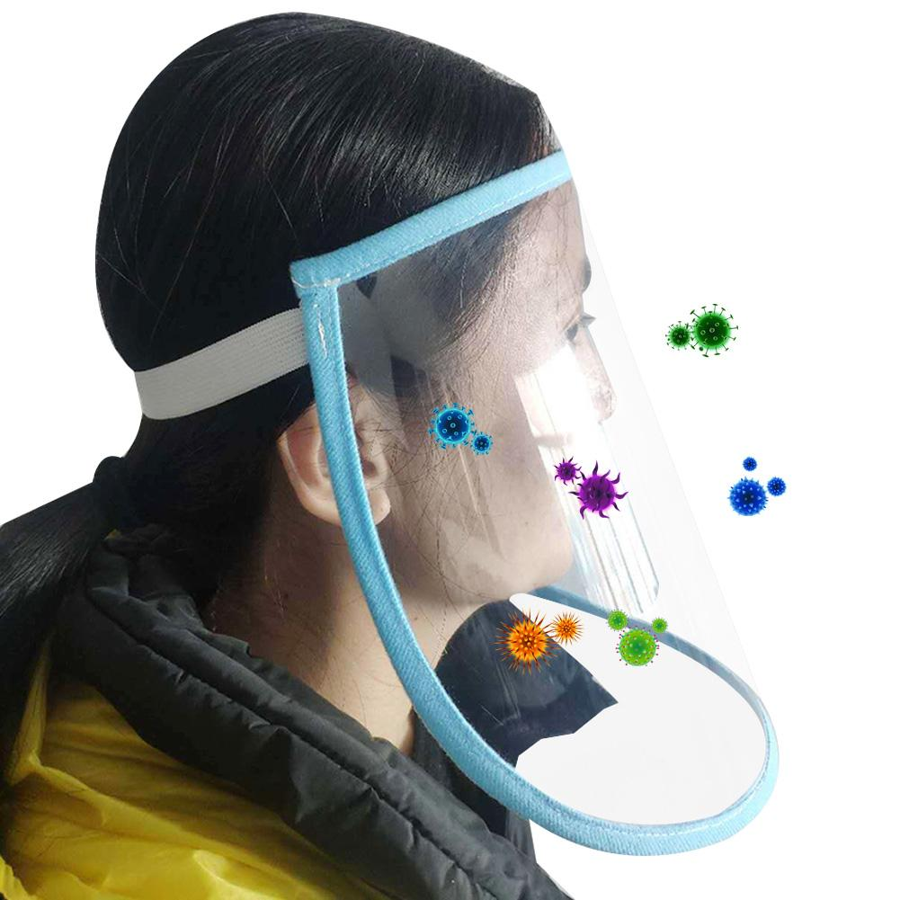 Protective Face Shield Anti Droplet Dust Saliva Proof Full Face Cover Mask Drop Virus Windproof Washable Adjustable Size