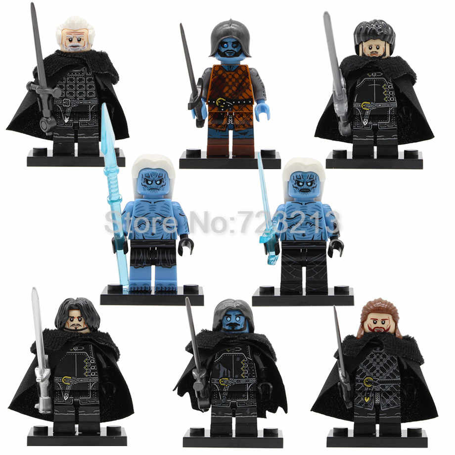 New Game of Thrones Season 8 Figure Jon Snow Benjen Stark White Walker Wights Jeor Mormont Samwell Tarly Building Blocks Toys