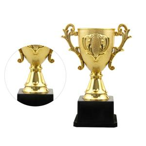 1PC 14.3cm Plastic Trophy Kids Sports Competitions Award Toy with Base for School Kindergarten